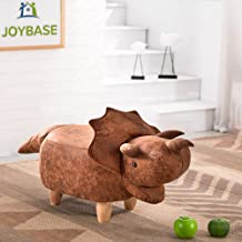 JOYBASE Dinosaur Ottoman, Animal Footstool, Footrest Stool, Ride-on Decorative Furniture (Dinosaur)