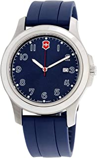 Victorinox Garrison Blue Dial Silicone Strap Men's Watch 26068CB