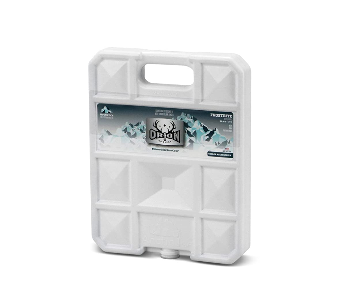 ORION Black Ice/Frostbite Arctic Ice – Extra Large Long Lasting Freezer Ice Pack – Hard Shell Dry Ice Alternative Cooler Accessory
