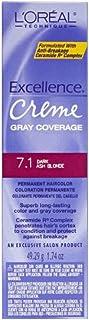 L'Oreal Excellence Creme Permanent Hair Color, Dark Ash Blonde #7.1, 1.74 oz