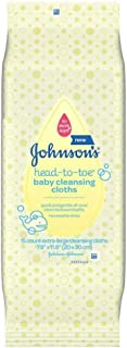 Johnsons Baby Head-To-Toe Cleansing Cloths (2 Pack)
