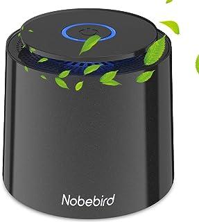 Purificateur d'Air Portable avec Véritable Filtre HEPA, Alimenté par USB, avec Veilleuse & Fonction d'Aromathérapie, Filtr...