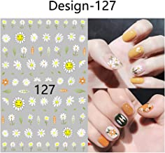 5 Sheets Nail Sticker Summer Colorful Fruit Patch Sunflower UV Plants Cute 3D Nail Sticker Deco Ongles Nail Art Stickers Kids Nail Stickers and decals