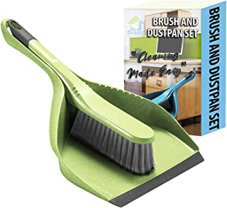 Guay Clean Brush and Dustpan Set - Heavy Duty Cleaning Tool Kit - Collects Dust Dirt Debris - Small and Lightweight for Ho...