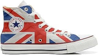 fce1e0e2e73bd Converse All Star Chaussures Coutume Mixte Adulte (Produit Artisanal) Drapeau  Anglais