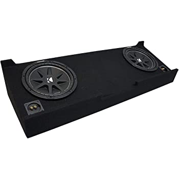 Compatible with 1988-1998 Chevy Silverado Ext Truck Harmony F124 Dual 12 Rhino Coated Sub Box