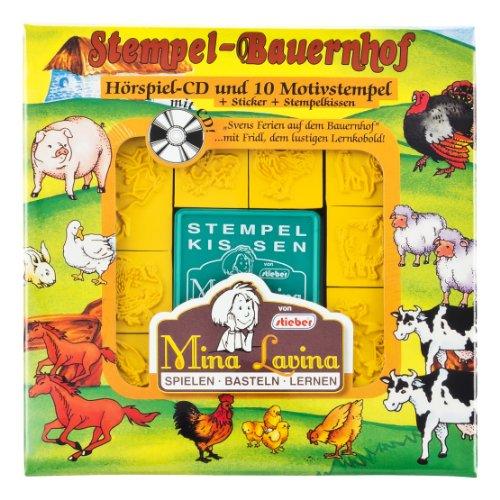 Mina Lavina - Juego de sellos con CD de audio, diseño de granja