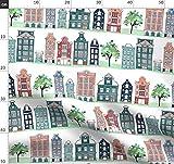 Amsterdam, Häuser, Wasserfarben, Wiederholungsmuster