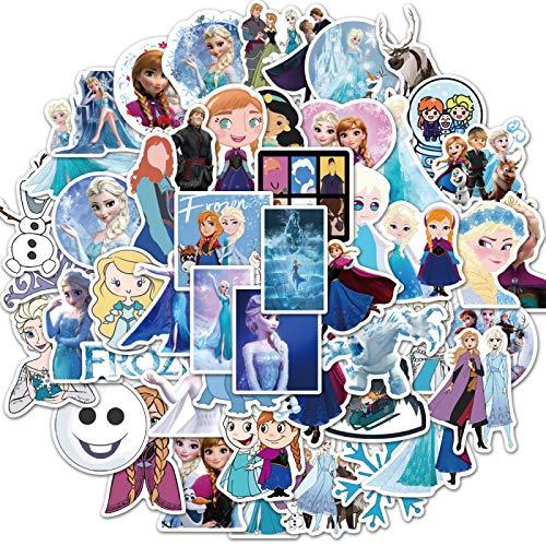 Nieuwe cartoon prinses Frozen diy mobiele telefoon shell skateboard koffer super waterdichte graffiti stickers 50 STKS