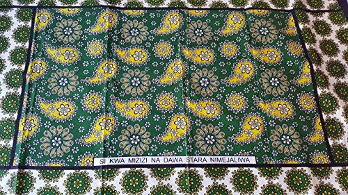 Kanga Khanga Sarong/Traje de baño de playa envoltura/Leso/Baby Wrap/telas africanas de prendas de vestir (verde oscuro)