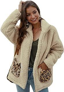 Manyysi Women Casual Winter Warm Sherpa Lined Zip Hoodie Sweatshirt Jacket Coat