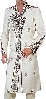 INMONARCH Mens Sherwani Forest of Cream Bollywood-Style Indian WeddingMen Sherwani SH0295