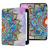 Colorful Star Funda de piel sintética para Kindle Paperwhite Generations anteriores a 2018 (no compatible con el nuevo Paperwhite 10ª generación), diseño de mandala pintado