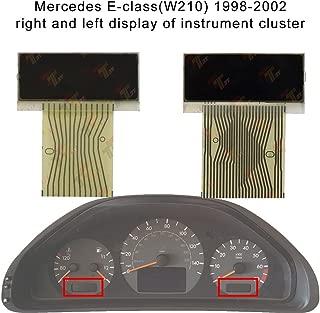 Allway Left + Right LCD Display Screen for Mercedes-Benz E-Class(W210) C-Class (W202) CLK-Class (W208) SLK-Class (R170) Speedometer Instrument Cluster Pixel Missing Repair