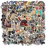 SUNYU 100 Piezas Retro Girl Graffiti Europa y América SexyGirl Stickers Skateboard Laptop Guitar Scrapbooking Moto PVC Decal