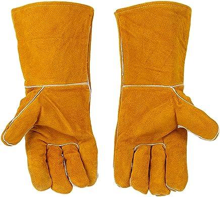 YXLAB Heavy Duty Heat Resistant & Flame Retardant Welding Gloves Working Gloves Anti-Scratch Cut