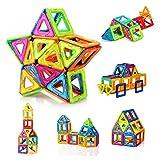 FlyCreat 磁石ブロック マグネット マグネットブロック 磁気おもちゃピタゴラスおもちゃ 磁石おもちゃ マグネットパズル 磁気ブロック 立体マグネット マグネッおもちゃ 磁石パズル3D立体パズル DIY磁気積み木 知育玩具 学習玩具 想像力と創造力を育てる ビルディング積み木 三角形24個 正方形16個 オモチャ 積み木男の子 図形 組み立て 女の子 贈り物 誕生日プレゼント 子ども 出産祝い 入園 クリスマスプレゼント 玩具 創意プレゼント ギフト (40PCS)