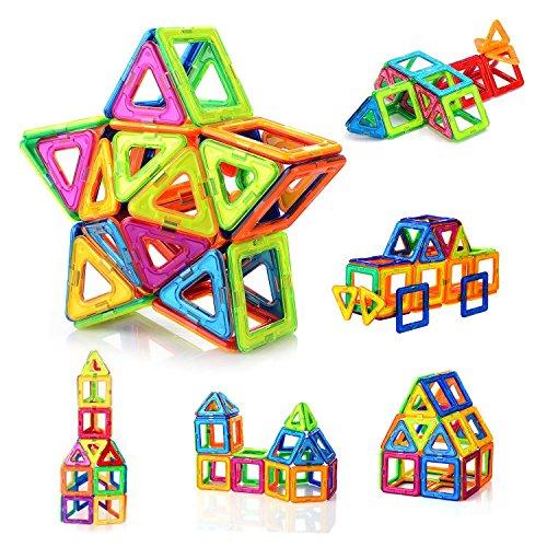 FlyCreat 磁石ブロック マグネット マグネットブロック 磁気おもちゃピタゴラスおもちゃ 磁石おもちゃ マグネットパズル 磁気ブロック 立体マグネット マグネッおもちゃ 磁石パズル3D立体パズル DIY磁気積み木 知育玩具 学習玩具 想像力と創造力を