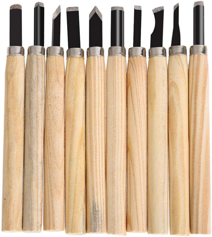 JFJL 10 Teile Satz Holzgriff Carving Meißel Messer Werkzeug Für Basic Woodcut Working Clay Wachs DIY Tools Holzbearbeitung Handwerkzeuge B07H3YRDM6 | Günstigstes