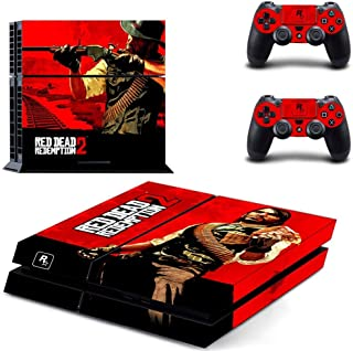 Red Dead Redemption 2 PS4 Skin Console - PS4 Controller Skin Cover Vinyl Decal Protective