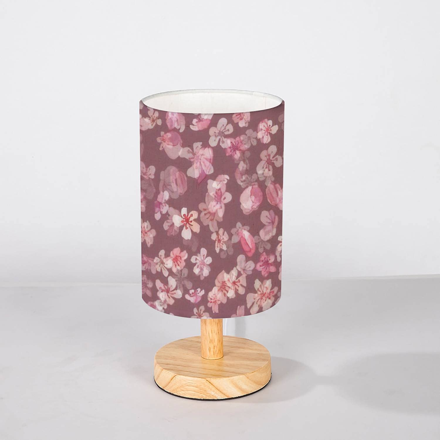 service Minimalist Bedside Table Lamp Watercolor O Seamless New mail order Blossom Leaf