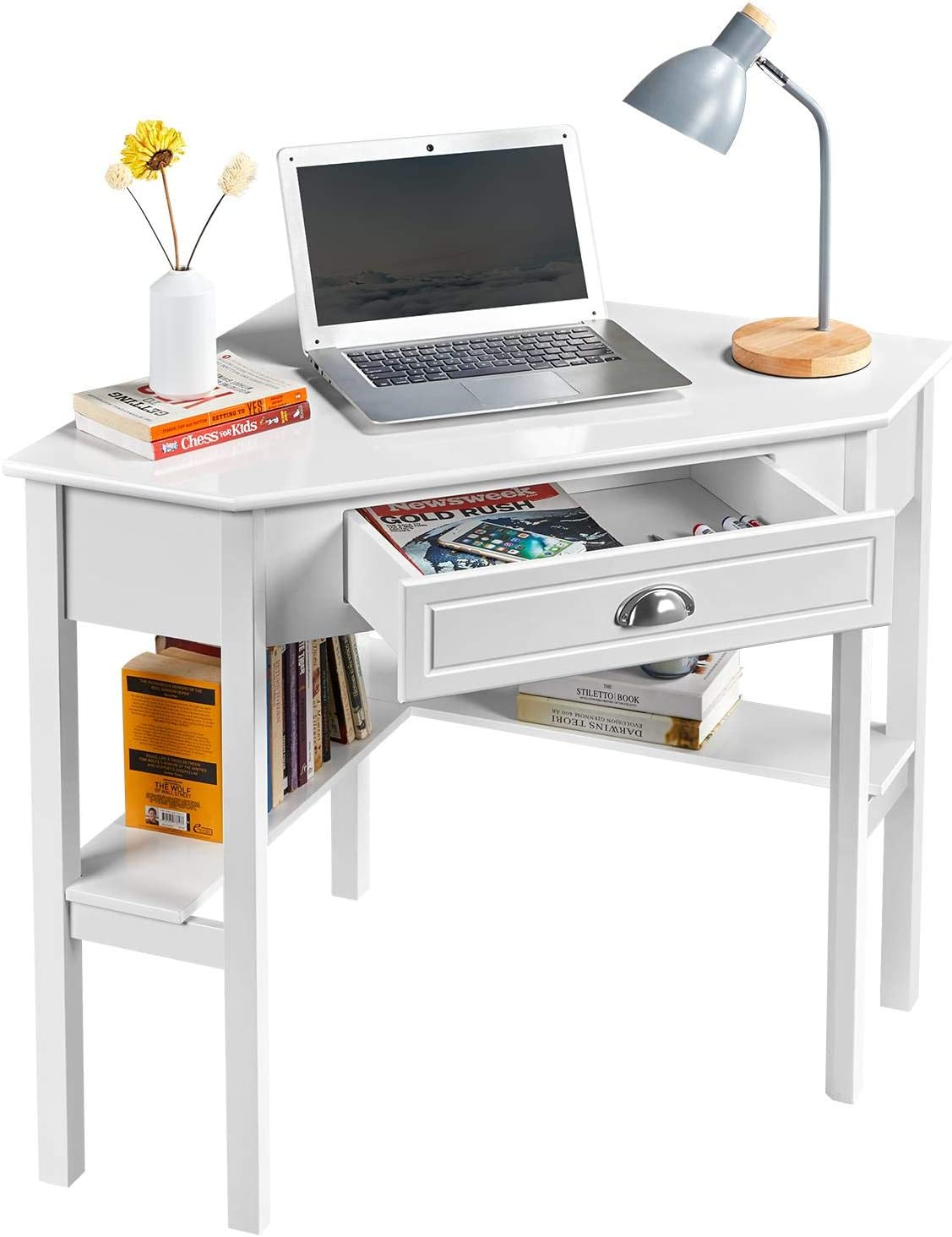 Yaheetech Corner Computer Workstation Study Le Desk Pine Writing Max 56% Max 80% OFF OFF