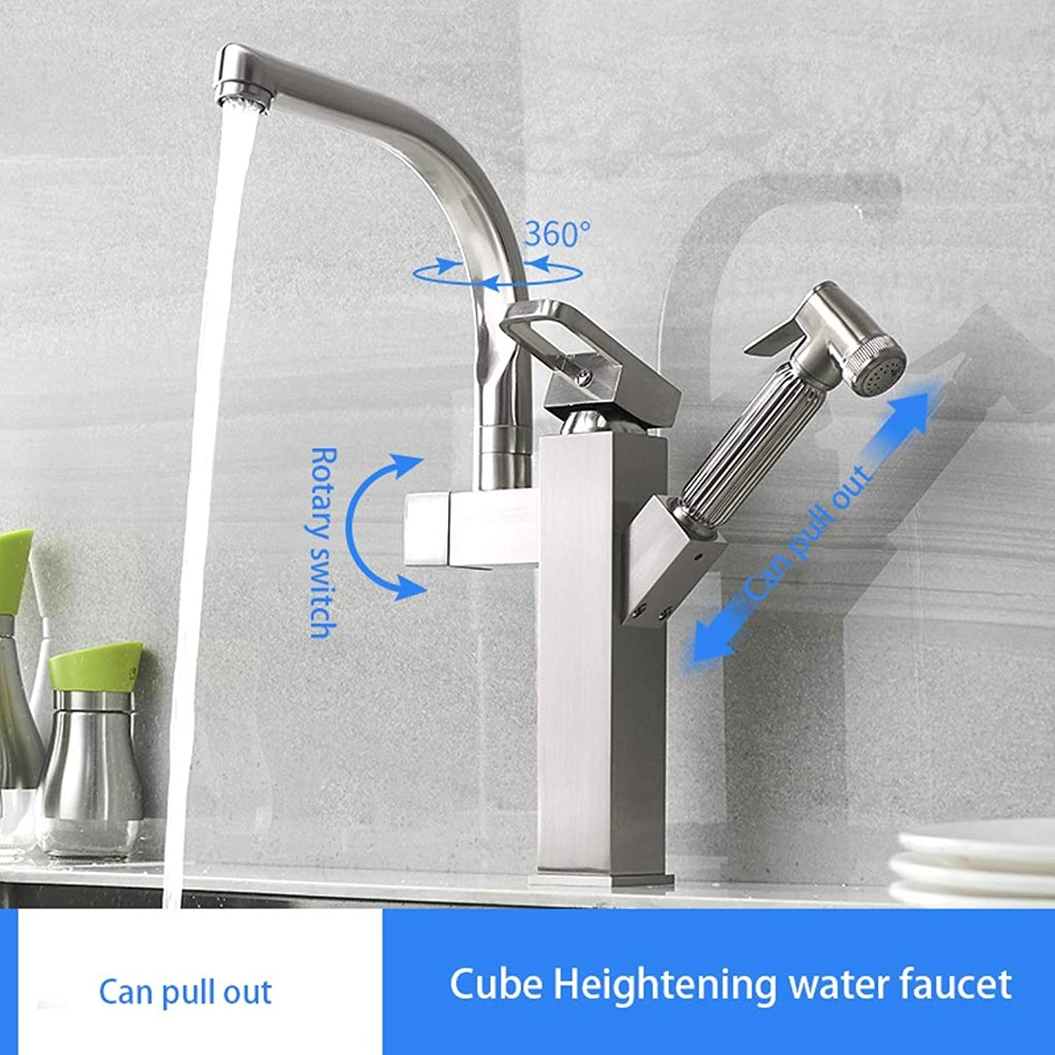 Niuniu Hot And Cold Water Faucet Pull-type Sink Sink Kitchen Sink redatable Sink Kitchen Faucet Household Faucet (color   B)
