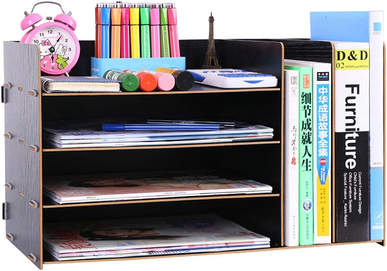 Aktenordner Einfaches Bücherregal Mehrlagiger Ordner Aufbewahrungsbox Schubladenbox (Farbe   B) B07GSWM117 | Elegant Und Würdevoll