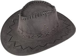 Men West Cowboy Hat Summer Outdoor Travel Mongolian Hat Grassland Visor Sunshade Cap