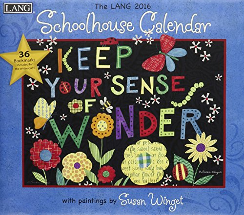 Lang Schoolhouse 2016 Wall Calendar by Susan Winget, January 2016 to December 2016, 13.375 x 24 Inches (1001940)