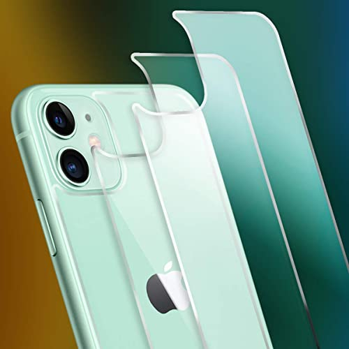 Mpire Back Screen Protector for iPhone 11 2 Pack Rear Tempered Glass Haptic Touch Temper Glass Film Premium HD Clarity Anti Fingerprint Scratch for iPhone11 6 1 inch