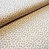 BIO Baumwoll-Jersey Stoff Kimi Spots - Leoparden-Muster -