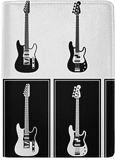 Guitarra Hermosa Varias Guitarras vectoriales Bloqueo de impresión Estuche para pasaportes Funda de Viaje Equipaje Pasaporte