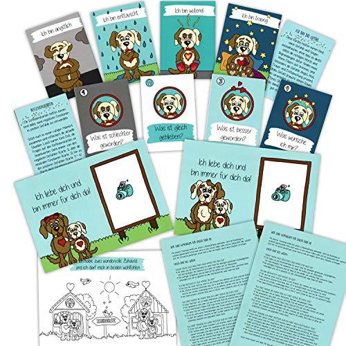 Starke Scheidungskinder - Hilfe-Set für Trennungskinder - nach der Trennung aktiv helfen, Umgang mit Gefühlen, Ängsten und Sorgen, Eltern-Verhaltens-Tipps, Gefühlskarten, Reflexionskarten