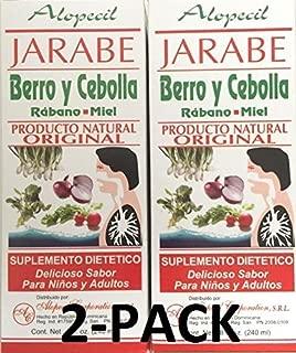 Jarabe Berro y Cebolla Rabano-Miel 8 Oz. Watercress and Onion Radish-Honey Syrup (2) by Alopecil