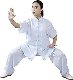 Chińskie tradycyjne mundury do Tai Chi i Wing Chun kostium unisex wykonany z bawełny i lnu pasuje zrelaksowany w domu do c...