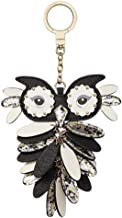 Kate Spade Owl Leather Keychain Key Fob Purse Charm