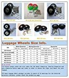 E&L 70 X 24(mm), 1 Set of Luggage Suitcase Replacement Wheels with ABEC 608zz Bearings, Packaged with Our own Designed Bag @ Eric & Leon Logo (70 X 24(mm))