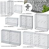 Gaviones de Piedra - Diversos Tamaños, Diámetro Alambre Ø 4mm, Tamaño de Una 10x5cm - Jardinera de Gaviones, Muro de Contención