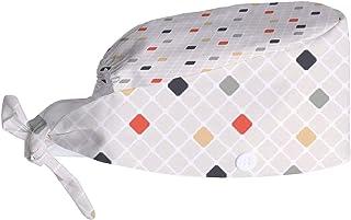 Boné de trabalho ajustável com laço nas costas, capa de cabeça com textura moderna para usar na cabeça com botão de transp...