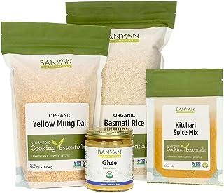 Banyan Botanicals Kitchari Kit – Organic Yellow Mung Dal, Basmati Rice, Kitchari Spice Mix & Ghee to Make Kitchari – for A...