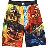 LEGO Ninjago Big Boys' Four Ninjas Swim Trunks (8) Black