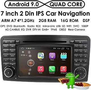 Android 9.0 Quad Core Car in Dash Radio for Mercedes Benz ML Class W164 2005-2012 & ML300 & ML350 & ML450 & ML500 DVD Player GPS Navigation 7 Car PC Stereo Head Unit