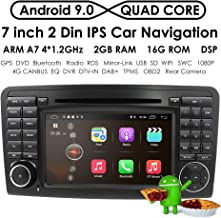Android 9.0 Quad Core Car in Dash Radio for Mercedes Benz ML Class W164 2005-2012 & ML300 & ML350 & ML450 & ML500 DVD Player GPS Navigation 7
