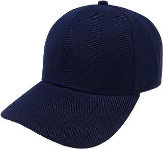 Flyme Unisex Baseball Cap Solid Color Adjustable Sports Visor Hat Peaked Cap for Women Men Navy