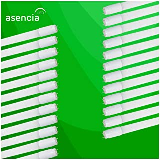 Asencia AN-03527 15W Type A - Plug and Play, T8 LED Tube Light, DLC Certified, 24-Pack, Daylight (5000K), 24 Pack