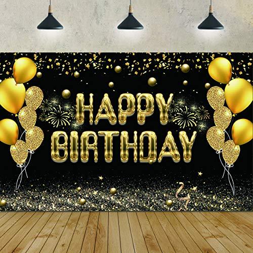 Banner de Fondo de Fiesta de Feliz cumpleaños, Cartel de Te