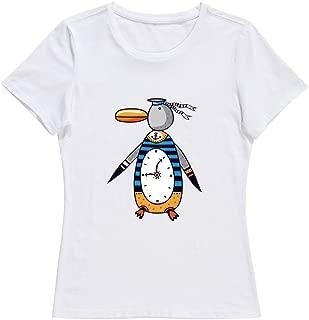 KST Women Penguin Alarm Clock Cotton 100% Cotton Love T-Shirt