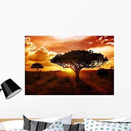 People Africa Sunset Wall Tattoo Wall Sticker Wall Sticker r0698
