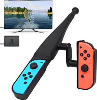 Nintendo Switch用釣り竿 FYOUNG ニンテンドースイッチ Joy-Con用 フィッシングゲームに適用 釣りゲームの臨場感 軽量ABS製 ブラック